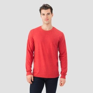 Fruit of the Loom Men's Long Sleeve T-Shirt - Red